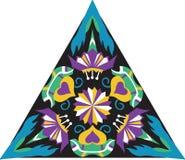 Vector oosters traditioneel bloem driehoekig patroon stock illustratie