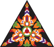 Vector oosters traditioneel bloem driehoekig patroon Stock Foto's