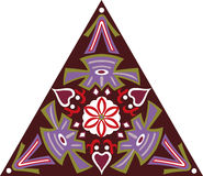 Vector oosters traditioneel bloem driehoekig patroon Royalty-vrije Stock Foto's