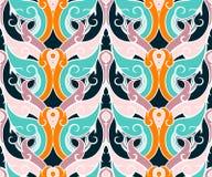 Vector Oosterse Naadloze Thaise stijl Als achtergrond Royalty-vrije Stock Afbeelding