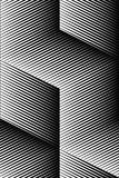 Vector op art pattern. Optical cube illusion abstract background Stock Image