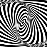 Vector op art pattern. Optical illusion abstract background.  royalty free illustration