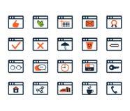 Vector op CMYK-wijze Webontwikkeling en SEO Vlak Ontwerp Stock Fotografie