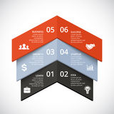 Vector op infographic pijlen Malplaatje voor diagram, grafiek, presentatie en grafiek Opstarten van bedrijvenconcept met 3 vector illustratie