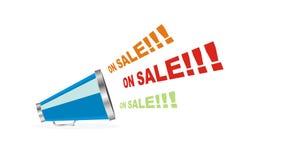 Vector op verkoopmegafoon Stock Foto