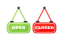 Vector open and close sign. Royalty Free Stock Images