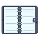 Vector Organizer with Blank Lined Pages Stock Photos