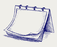 Vector open notepad. Doodle style Stock Images