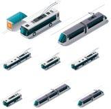 Vector openbaar elektrisch vervoer Stock Afbeeldingen