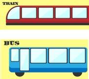 Vector openbaar vervoerreeks Stock Illustratie