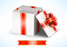 Vector opened white gift box Stock Photography