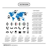 Operator customer support and basic phone info graphic icon Stock Images