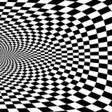 Vector optical illusion black and white background stock illustration