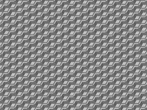 Vector optical illusion 3D shapes background. Grey industrial wallpaper with cubes Royalty Free Stock Image