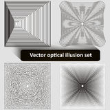 Vector optical illusion set Royalty Free Stock Image