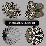 Vector optical illusion set Royalty Free Stock Images