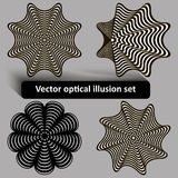 Vector optical illusion set Royalty Free Stock Photography