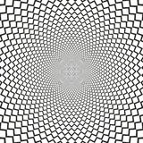 Vector optical illusion sharp lines black and white background Royalty Free Stock Photos