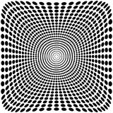 Vector optical illusion zoom black and white background Royalty Free Stock Photo