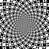 Vector optical illusion zoom black and white background stock illustration