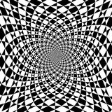 Vector optical illusion zoom black and white background royalty free illustration
