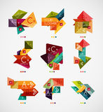 Vector option banners collection Royalty Free Stock Images