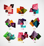 Vector option banners collection Royalty Free Stock Photography