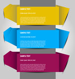 Vector option templates. Design of multicolor  option templates for multipurpose use Stock Photos