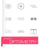 Vector optometry icons set Royalty Free Stock Image