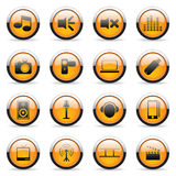 Vector orange buttons. For web design Royalty Free Stock Photography