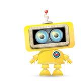 Vector orange cartoon robot isolated on white Stock Image