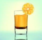 Vector orange fresh in glass Stock Photo