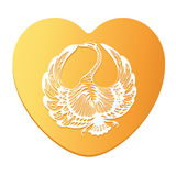 Vector Symbol of Love Swan Stock Image