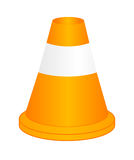 Vector orange highway traffic cone Royalty Free Stock Photography