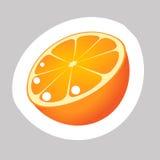 Vector Orange Icon. Vector Orange with White Contour Isolated on Grey Background Stock Photos