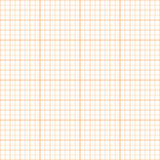 Vector orange inch graph paper seamless pattern. Vector orange graph paper seamless pattern, grid accented every inch Stock Photos