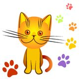Vector Orange kitten bully Stock Photography