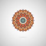 Vector orange mandala Stock Images