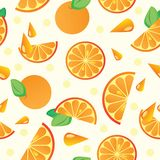Vector orange pattern Stock Photography