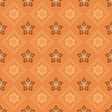 vector orange pattern with geometric figures Royalty Free Stock Photos