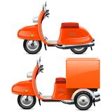 Vector Orange Scooters Royalty Free Stock Image