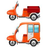 Vector Orange Scooters Set 2 Stock Images