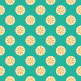 Vector orange seamless pattern Royalty Free Stock Photos