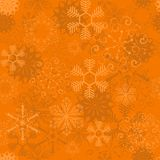 Vector orange seamless snowflake pattern. Eps 10 Royalty Free Stock Image