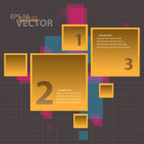Vector Orange Square Infographics Background Conce Stock Images