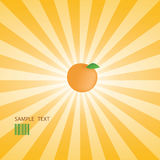 Vector orange star burst Royalty Free Stock Images
