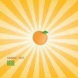 Vector orange star burst Royalty Free Stock Images