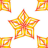 Vector orange stars pattern Royalty Free Stock Photo