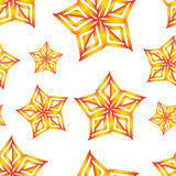 Vector orange stars seamless pattern Royalty Free Stock Photo