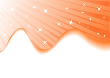Vector orange summer background with stars Stock Image